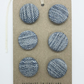 Upcycled denim handmade covered buttons, 19mm set of 6