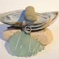 Pale turquoise sea glass pendant