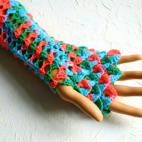 Multicoloured Dragonscale Gloves