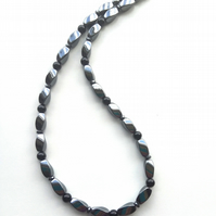 Hematite and Black Agate necklace.