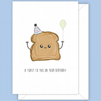 Funny Birthday Card, Toasting Your Birthday