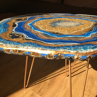 SALE. Geode Resin table, Exclusive, unique, Statement Piece, luxury furniture