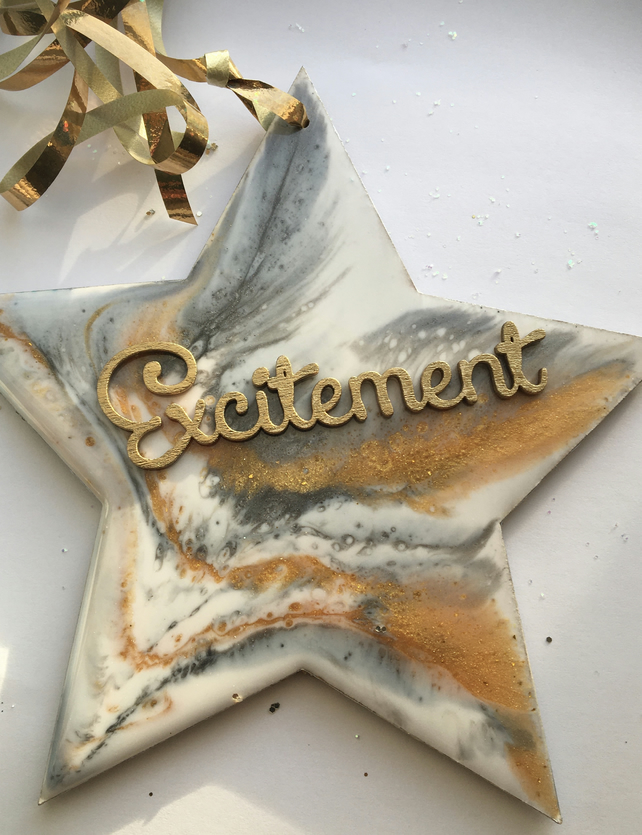 SALE. Christmas decoration, star, white, gold, silver, Excitement