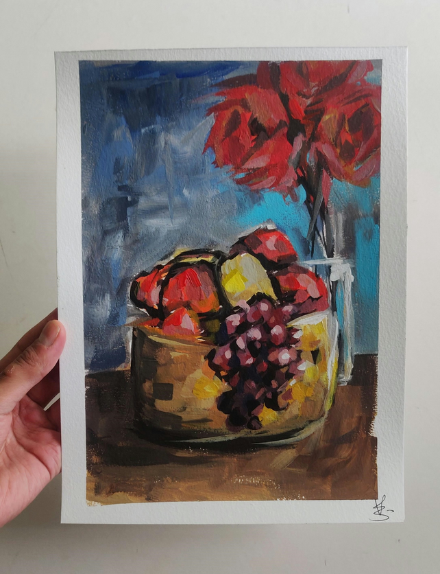 Fruit Bowl Acrylic Painting