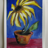 Big Sunflower Acrylic Painting