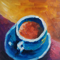 Tea Cup Oil Painting