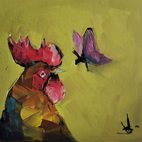 Rooster & Butterfly