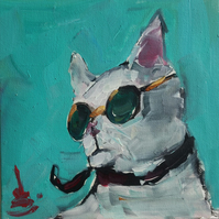 Cool Cat Oil Painting