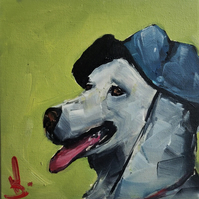 Fisherman's Dog Oil Painting