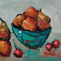 Impressionist Fruit Bowl Oil Painting