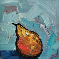 Fauvist Pear Oil Painting