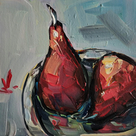 Poached Pears Oil Painting