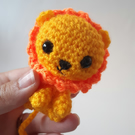 Crochet Miniature amigurumi Lion