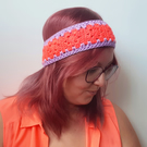 Boho chic Mini Granny Square headband or ear warmer crochet pattern
