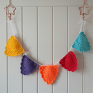 Colour pop bunting crochet pattern