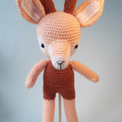 Crochet amigurumi deer doll, plush stuffed animal