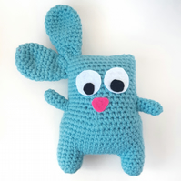 Crochet amigurumi bunny rabbit - blue kawaii bunny rabbit