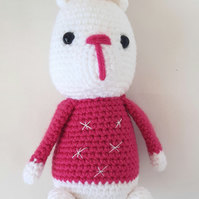 Crochet amigurumi polar bear - Christmas or winter polar bear