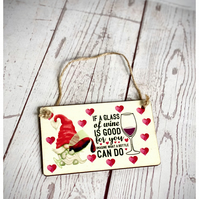 Wine Gnome Mini Plaque