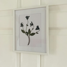 8x10 white picture frame with dried flowers