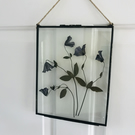 8x10 glass frame with dried flowers