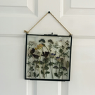 8x6 glass frame with dried flowers