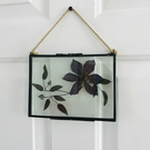7x5 glass frame with dried flower