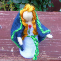Beira - Queen of Winter - Needle felt doll