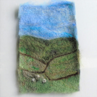 Needle felted picture - Yorkshire moors