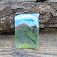 ACEO Needle felted picture - Yorkshire dales