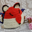 Fox Tea cosy - to fit a small 1 or 2  cup teapot, crochet tea cosy