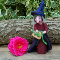Maud the Kitchen witch, hedge witch Halloween witch, wool witch