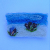 Needle felt brooch Crocus in the snow -  ladies jewellery wool badge wool art