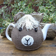 knitted tea cosy, Alpaca face Tea cosy - to fit a large standard size teapot