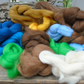 Merino Wool Tops Roving Wet needle Felting, Spinning 100 gms mixed colours