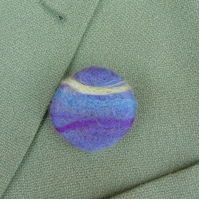 Needle felt brooch Sunset ladies jewellery wool badge
