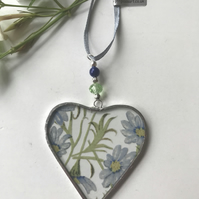Stained Glass Ribbon Heart