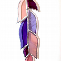Stained Glass Purple Feather