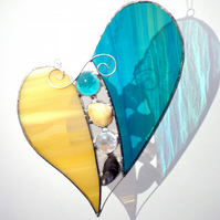 Stained Glass Shell Heart