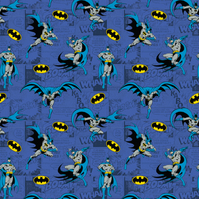 Batman Comics Blue -  Cotton Print
