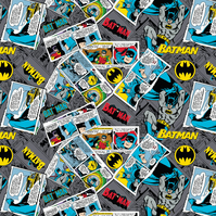 Batman Collage - Cotton Print