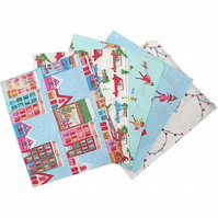 Christmas Town Fat Quarters - Pack of 5