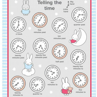 Miffy Telling Time Fabric Panel Fabric - Cotton Fabric Collection