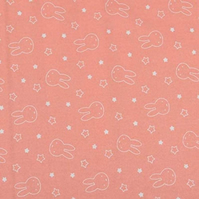 Miffy Bedtime Stars Peach - Cotton Fabric Collection