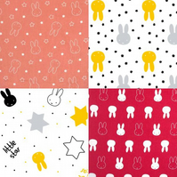 Miffy Cotton Fabric Collection - Choice of 5 Different Prints