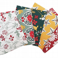 Holiday Folklore Fat Quarters Cotton Fabric Bundles - 5 Pack