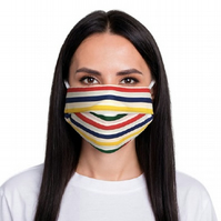ComfyMasky Unisex Multicolor lines Premium Cotton Face Masks - UV Sanitized