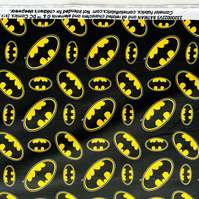 Batman Logo Black - Cotton Print