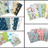 Best Fat Quarters for Kids Crafts & Quilting 5 quarters per pack( 9 Designs)