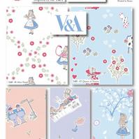 Alice in Wonderland Fabric - Fat Quarter, 5 Pack - (100% Cotton) Craft Fabric